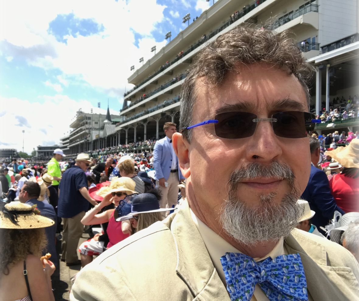 Professor Peter S Fosl at the Kentucky Derby